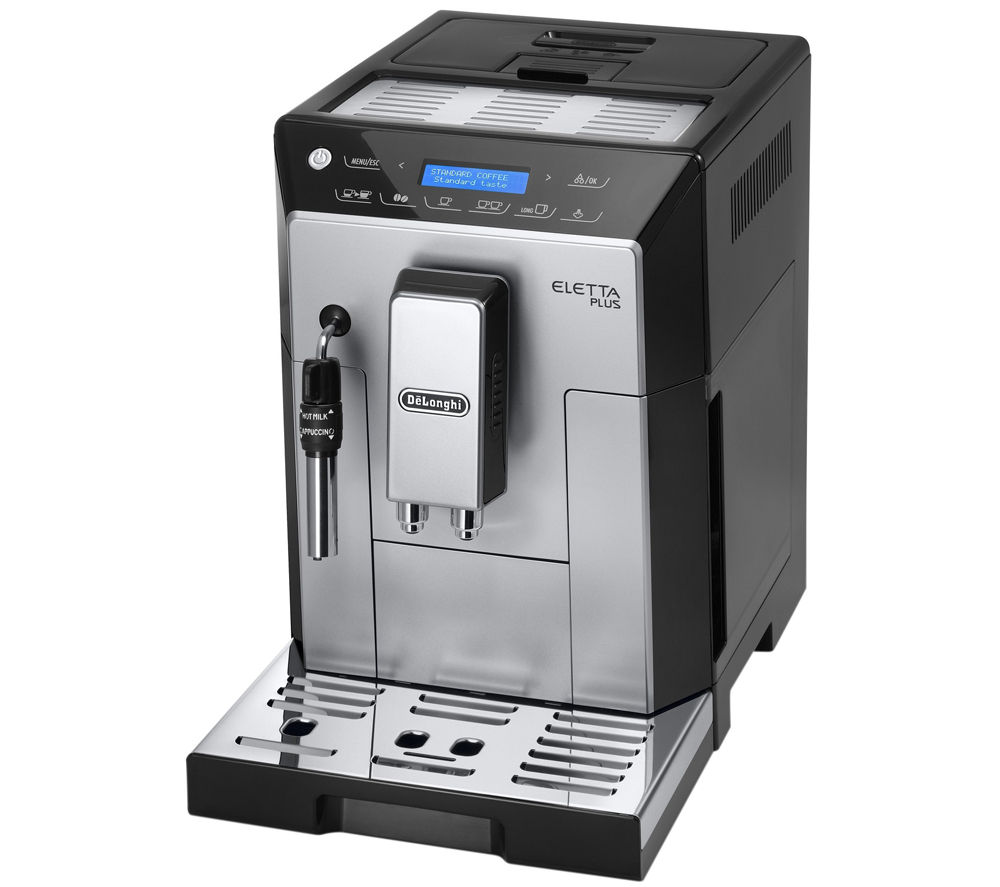 delonghi eletta plus bean to cup coffee machine silver. Black Bedroom Furniture Sets. Home Design Ideas