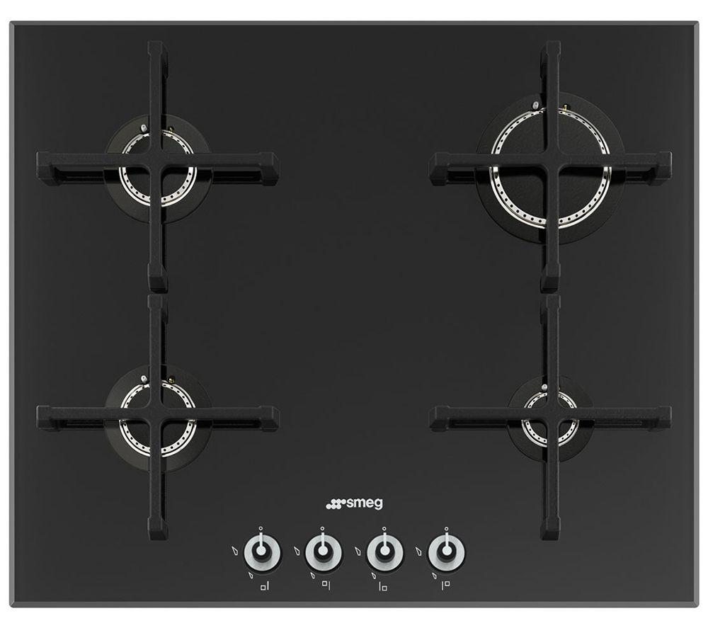 Image of Smeg Linea PV164N Gas Hob - Black, Black