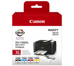 CANON PGI-1500XL Black & Colour Ink Cartridges - Multipack