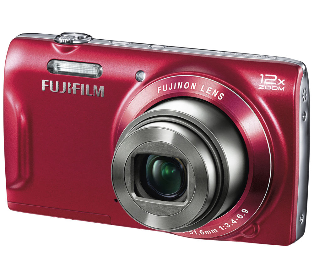 FUJIFILM FinePix T500 Compact Digital Camera – Red