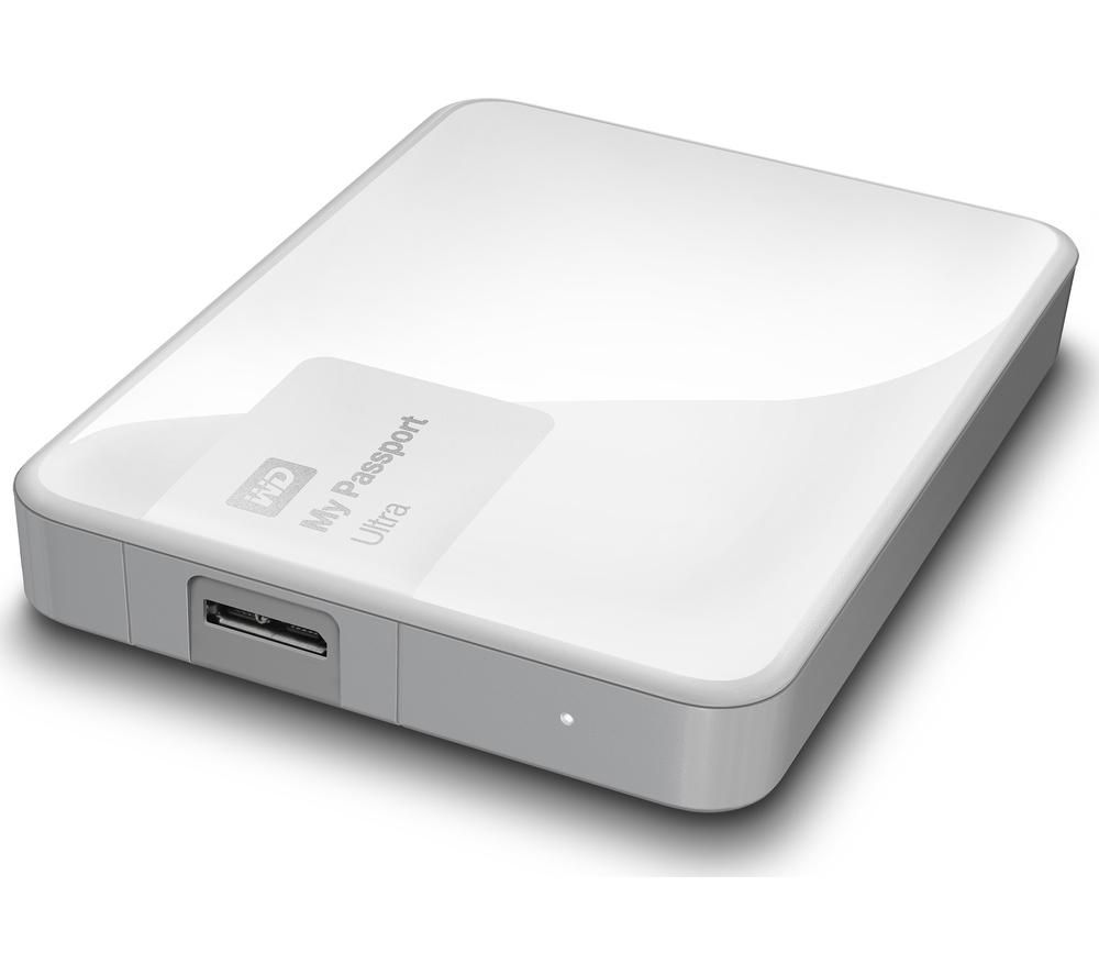 WD My Passport Ultra Exclusive Edition Portable Hard Drive - 2 TB, White