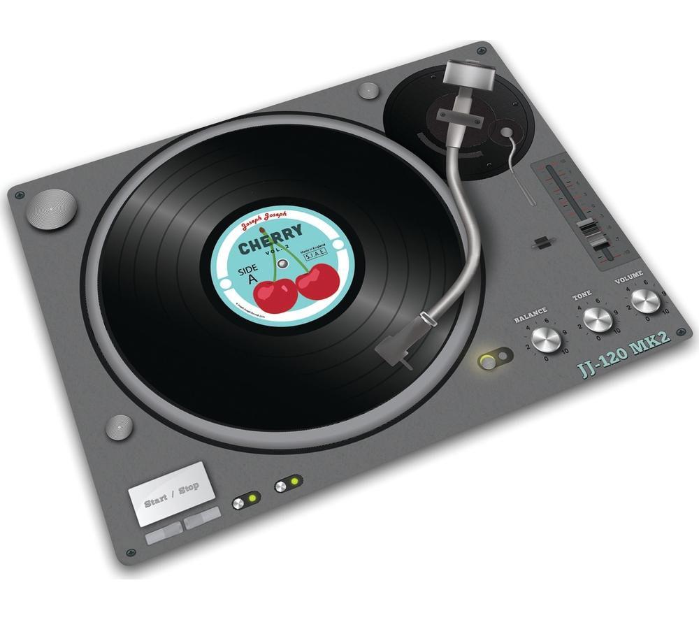 JOSEPH JOSEPH 90040 Glass Chopping Board - Record Player