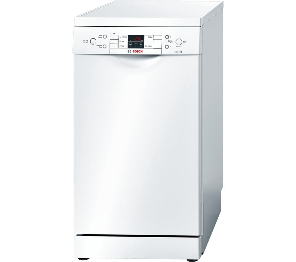 BOSCH Serie 6 SPS53M02GB Slimline Dishwasher - White