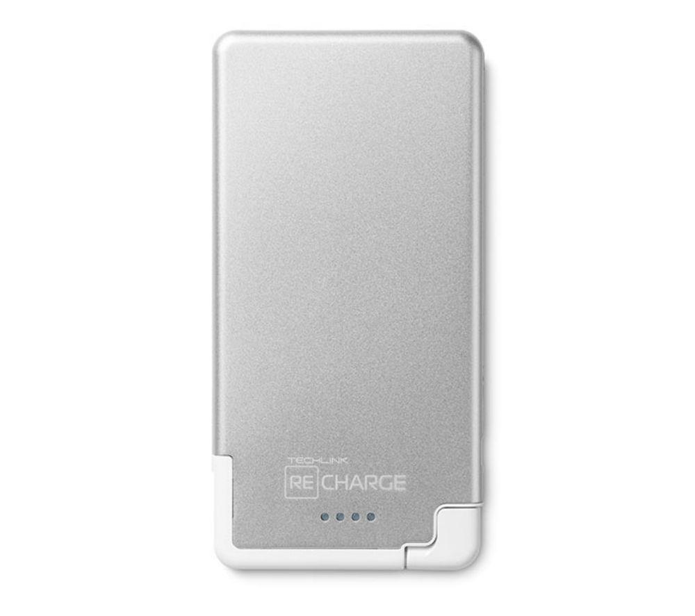 TECHLINK Recharge Ultrathin 3000 Portable Power Bank - Silver & White