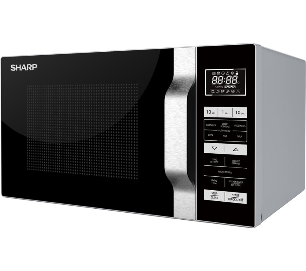 SHARP  R760SLM Microwave with Grill  Silver & Black Silver