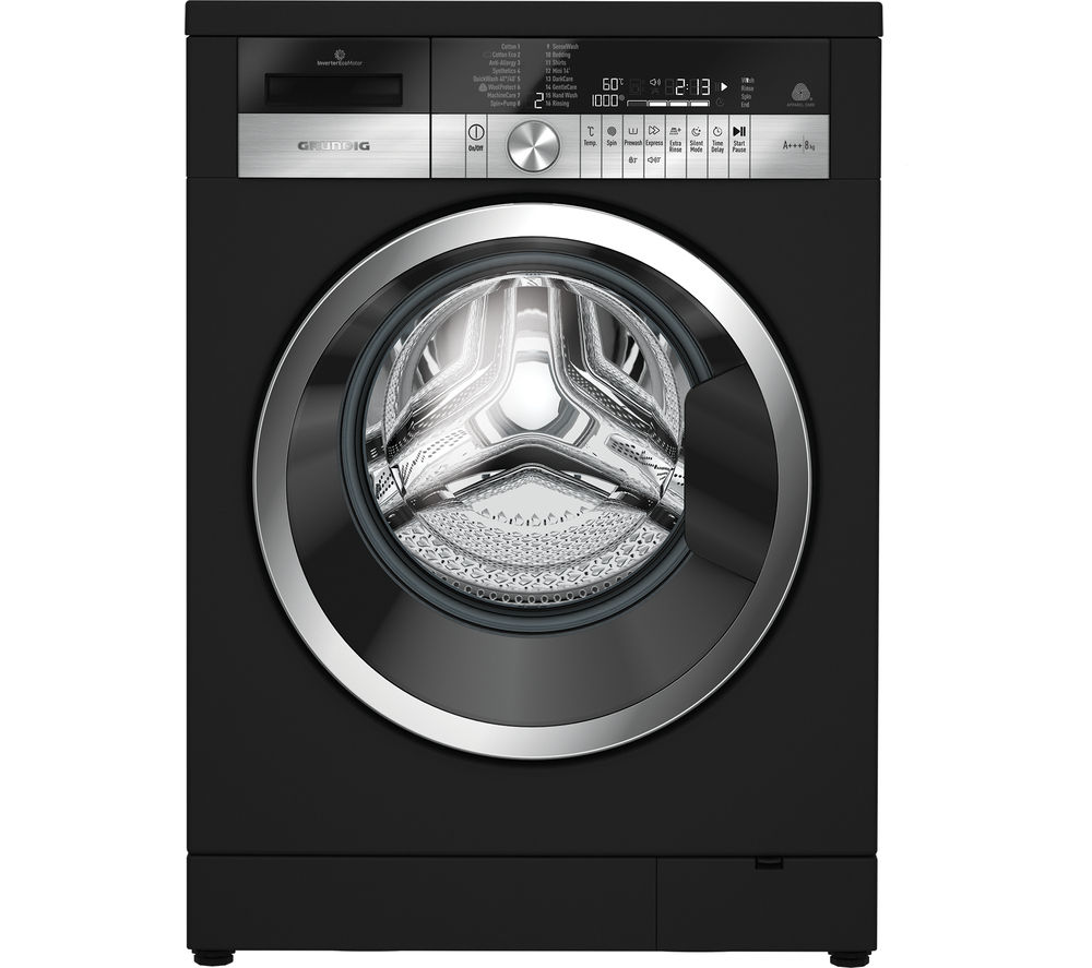 GRUNDIG  GWN48430CB Washing Machine  Black Black