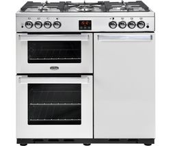BELLING Gourmet 90G Professional Gas Range Cooker - Stainless Steel