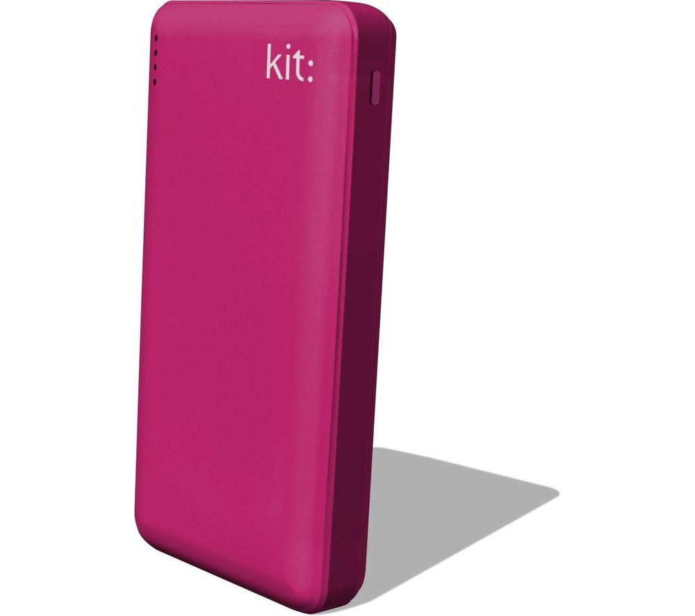 KIT  FRESH Portable Power Bank - Pink, Pink.