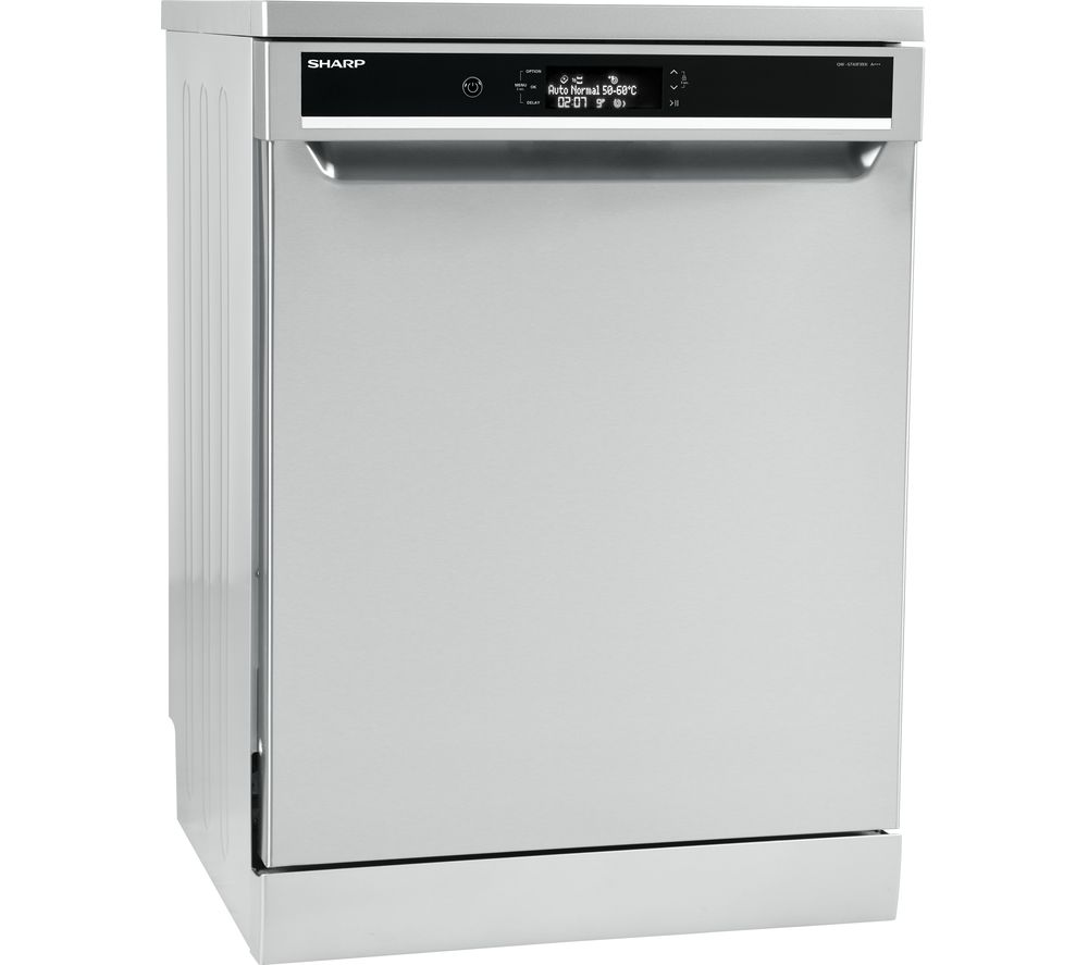 SHARP QW-GT43F393I Full-size Dishwasher - Stainless Steel