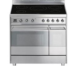 SMEG Symphony 90 cm Electric Induction Range Cooker - Stainless Steel