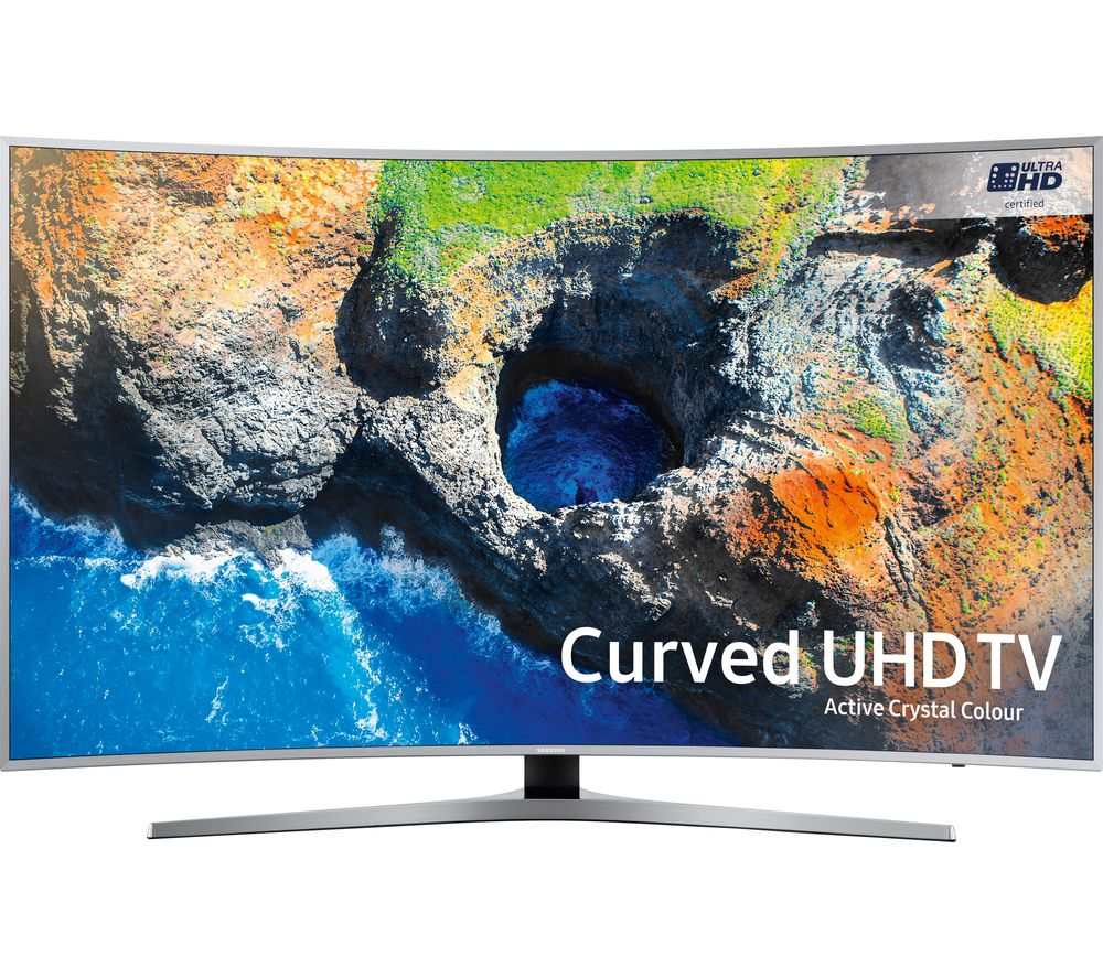 "SAMSUNG UE55MU6500 55"" Smart 4K Ultra HD HDR Curved LED TV + S1HDM315 HDMI Cable with Ethernet - 1 m"