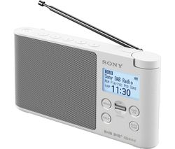 SONY XDR-S41DW Portable DAB+/FM Radio - White