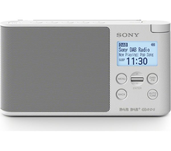 buy sony xdr s41d portable dab fm clock radio white free delivery currys. Black Bedroom Furniture Sets. Home Design Ideas