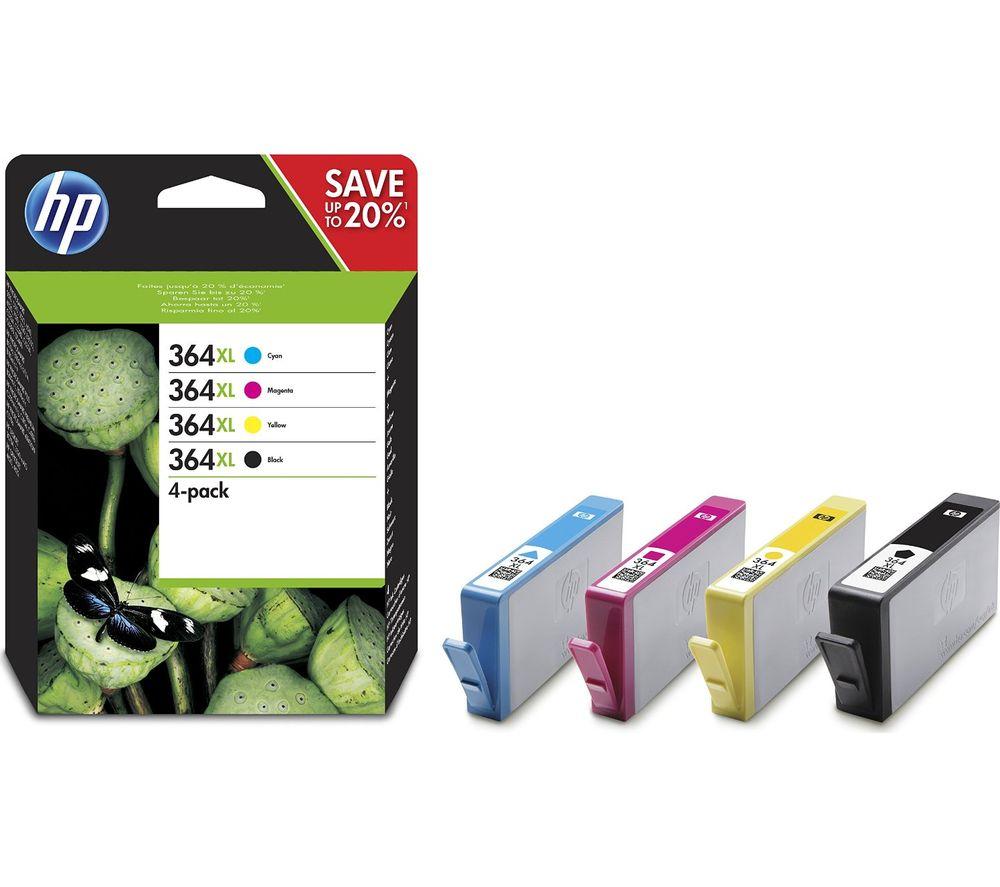 HP 364XL High Yield Original Cyan, Magenta, Yellow & Black Ink Cartridges - Multipack