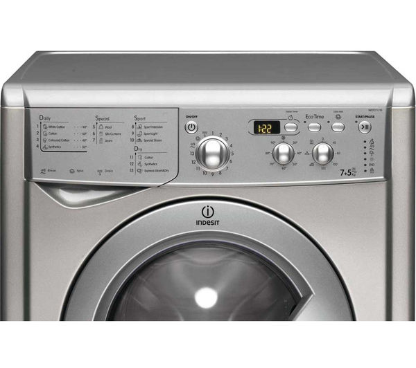 Buy Indesit Iwdd7123s Washer Dryer Silver Free
