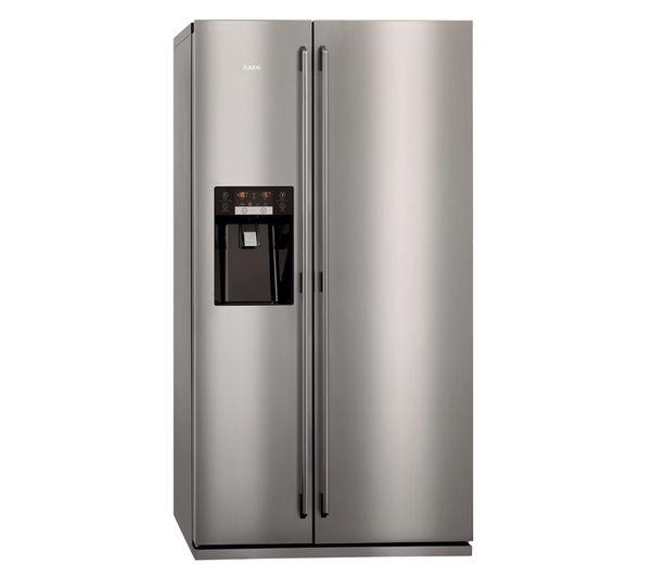 AEG S96090XVM1 American-Style Fridge Freezer - Stainless Steel