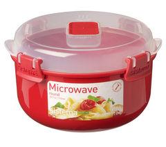 SISTEMA Round 915 ml Microwave Box - Red