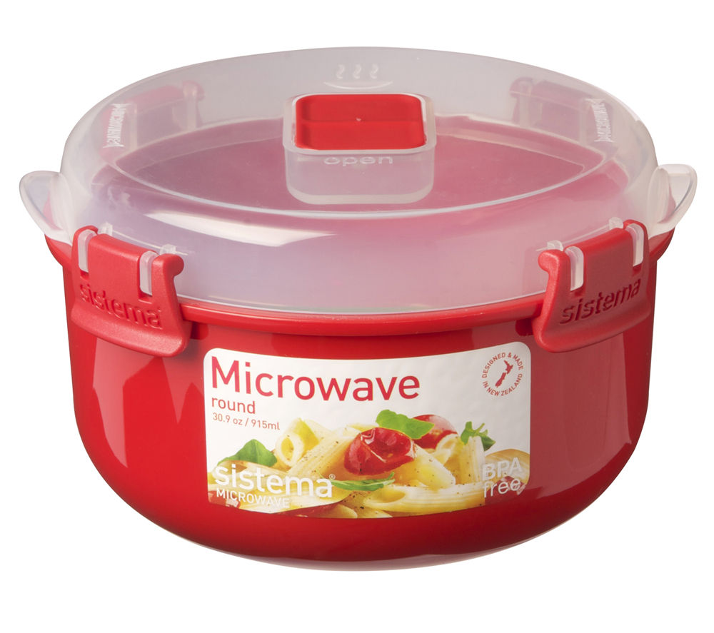 SISTEMA Round 915 ml Microwave Box - Red