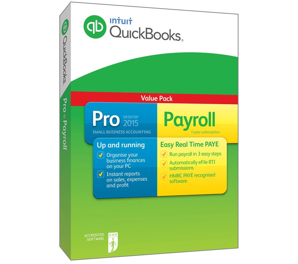 INTUIT Quickbooks Pro 2015 Plus Payroll