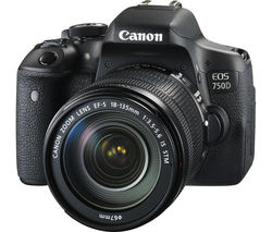 CANON EOS 750D DSLR Camera with EF-S 18-135 mm f/3.5-5.6 IS STM Zoom Lens