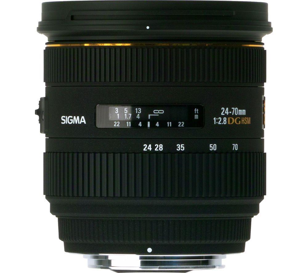 SIGMA 24-70 mm f/2.8 IF EX DG HSM Standard Zoom Lens - for Nikon