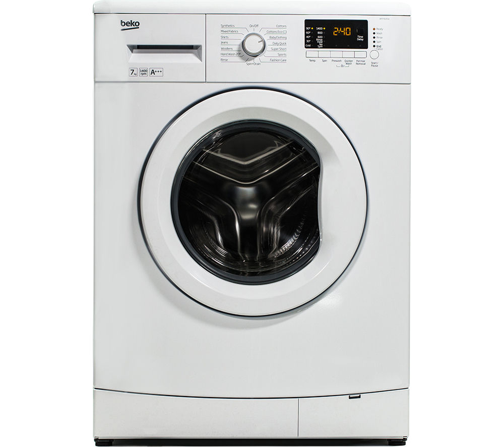 BEKO WM74145W Washing Machine - White + Select DSX83410W Heat Pump Tumble Dryer - White