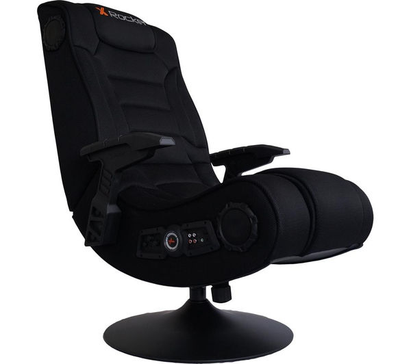 x rocker hades wireless gaming chair black deals pc world. Black Bedroom Furniture Sets. Home Design Ideas