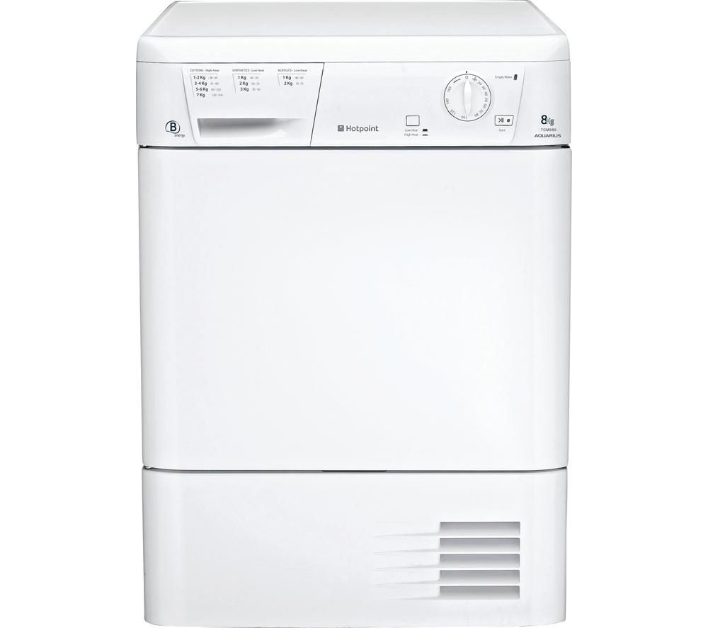 HOTPOINT Aquarius TCM580BP Condenser Tumble Dryer - White