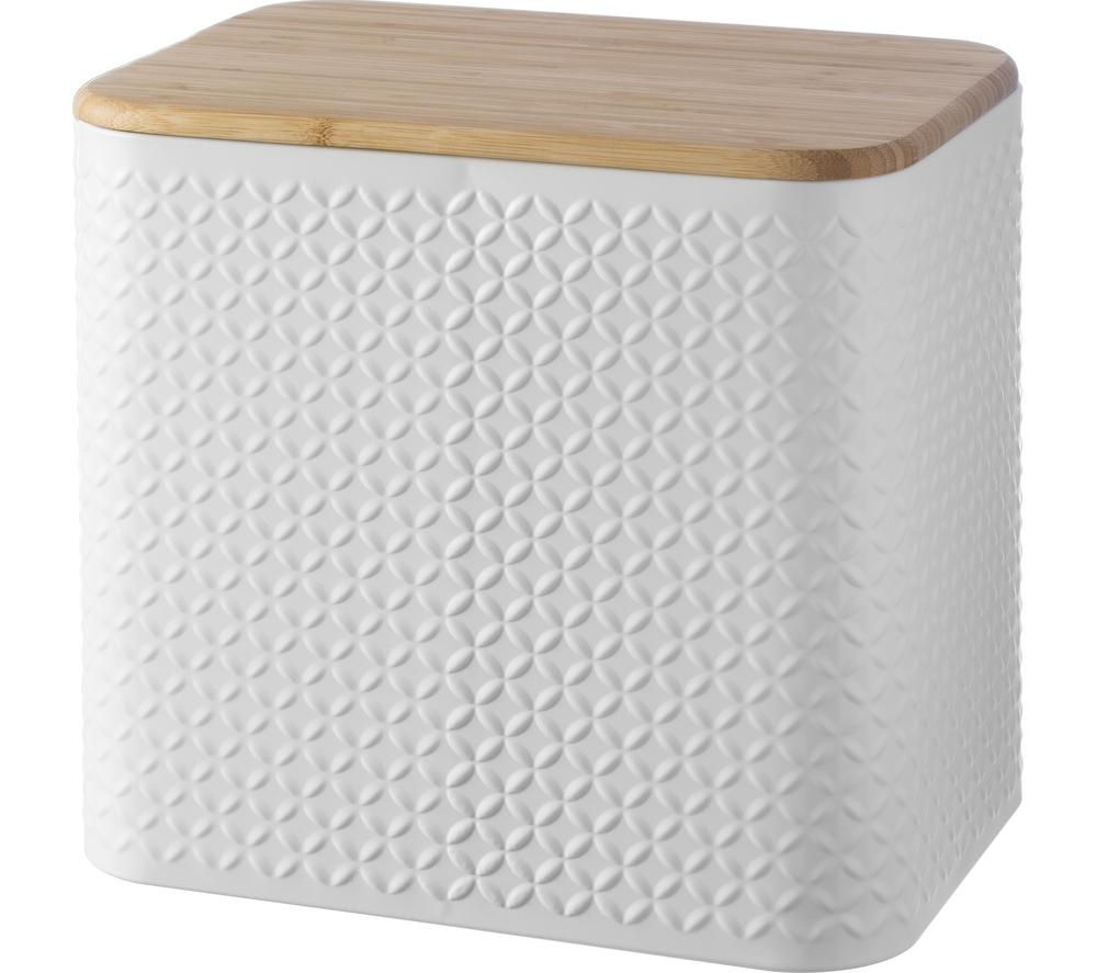 TYPHOON  Imprima Diamond Rectangular Bread Bin  White White