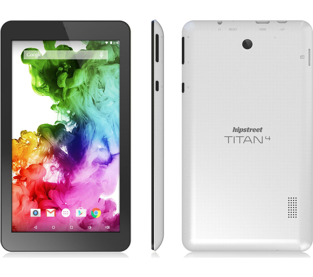 "HIPSTREET Titan 4 7"" Tablet - 8 GB, White"