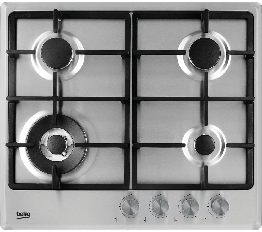 BEKO HCMW64225SX Gas Hob - Stainless Steel + Select HCB63744BX Chimney Cooker Hood - Stainless Steel