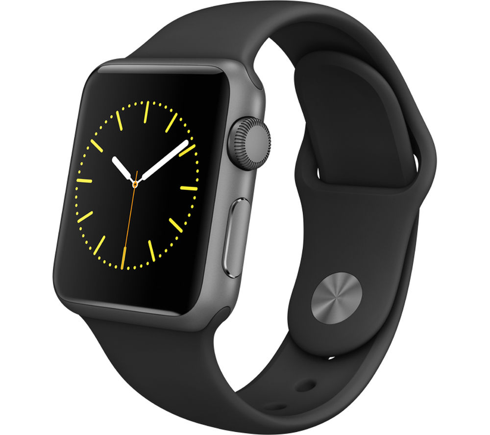 APPLE Watch 38 mm Sports Band - Space Grey & Black
