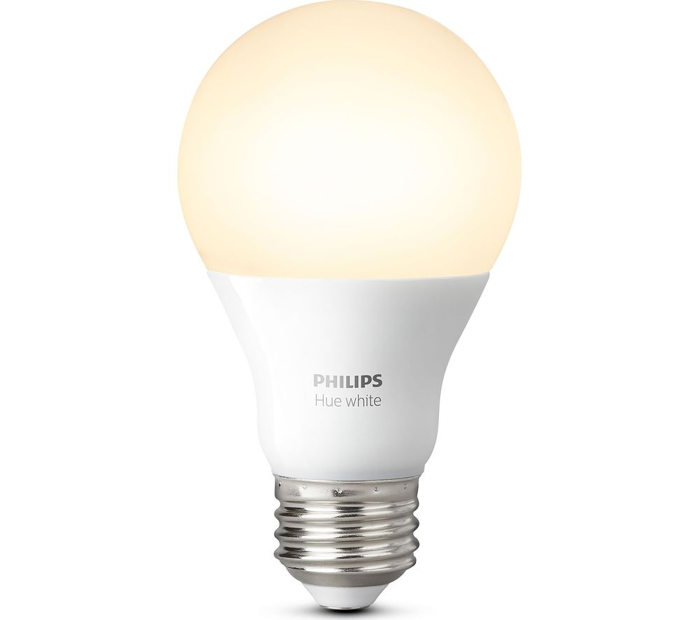 buy philips hue white wireless bulb e27 free delivery currys. Black Bedroom Furniture Sets. Home Design Ideas