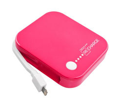 TECHLINK Recharge 4000 Portable Power Bank - Pink