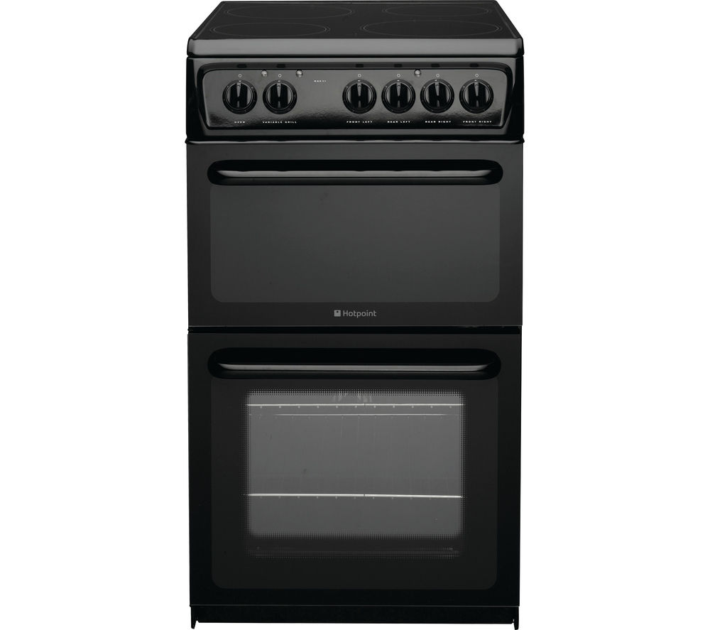 HOTPOINT  Concept HAE51KS Electric Ceramic Cooker  Black Black