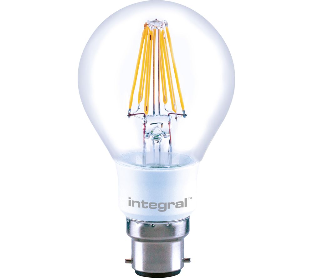 Photo of Integral 806lm b22 dimmable led light bulb - warm white- white