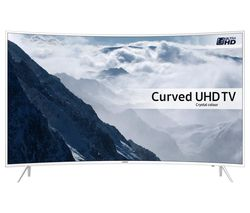 "SAMSUNG UE43KU6510 Smart 4K Ultra HD HDR 43"" Curved LED TV - White"