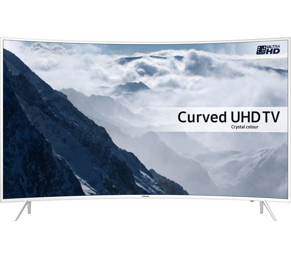 "Samsung UE43KU6510 Smart 4K Ultra HD HDR 43"" Curved LED TV - White, White"