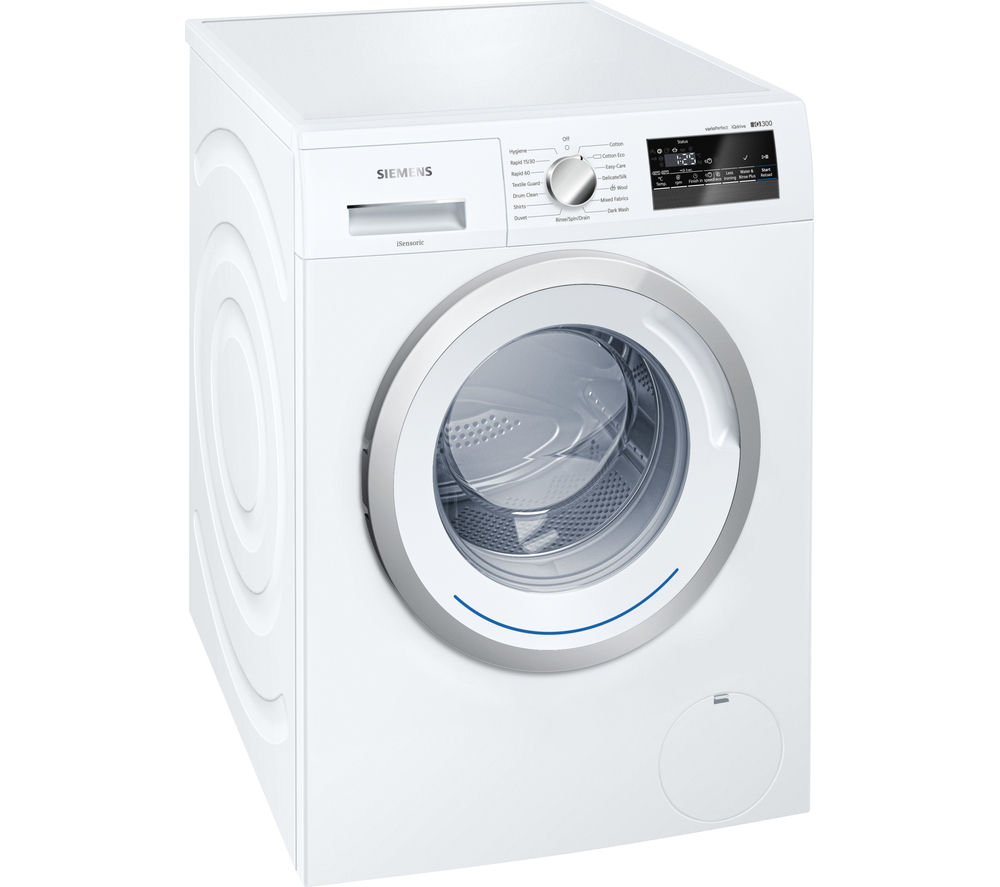 buy siemens iq300 wm12n200gb washing machine white free delivery currys. Black Bedroom Furniture Sets. Home Design Ideas
