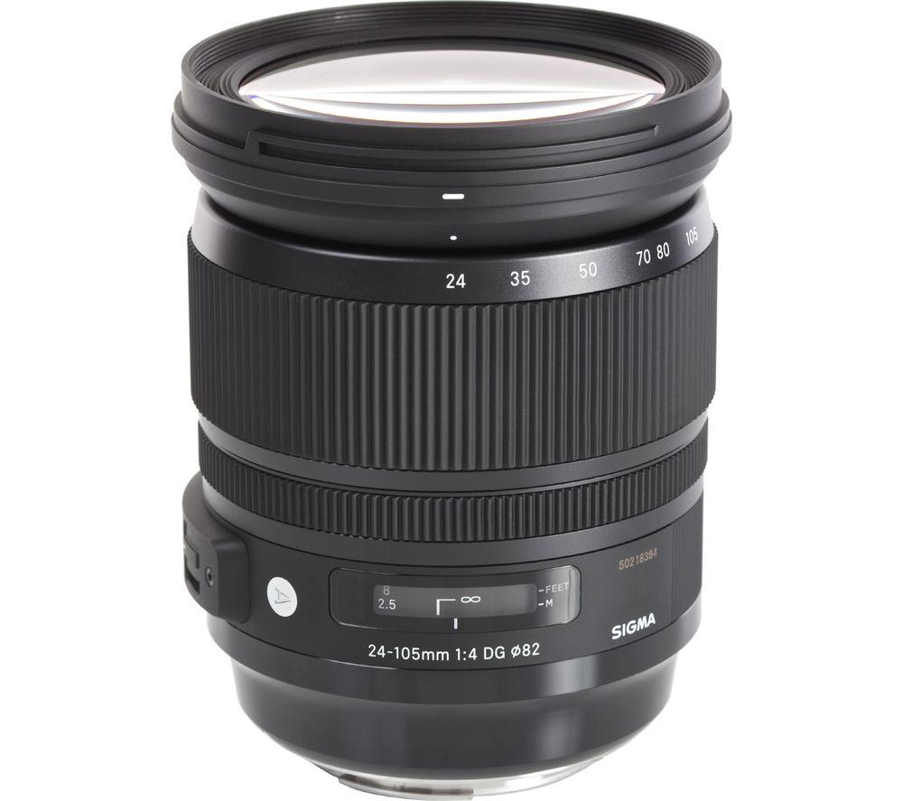 SIGMA 24-105 mm f/4.0 DG HSM Standard Zoom Lens - for Nikon