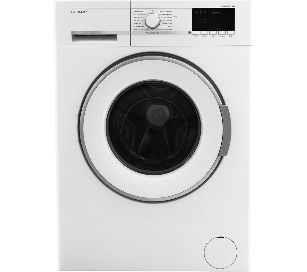 Image of SHARP ES-GFB8144W3 Washing Machine - White, White