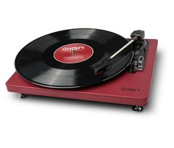 ION Compact LP USB Turntable - Burgundy