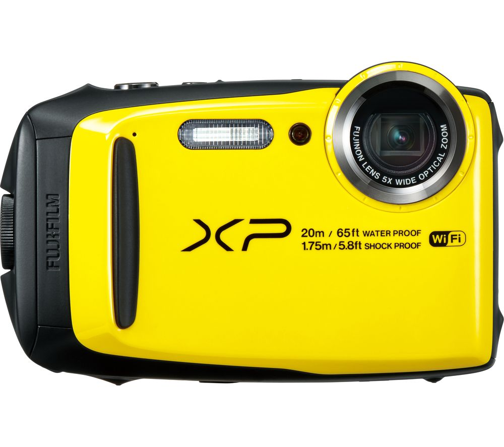 FUJIFILM XP120 Tough Compact Camera - Yellow + Extreme Plus Class 10 SD Memory Card Twin Pack - 16 GB