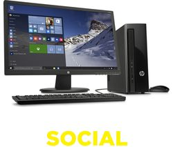 "HP Slimline 411-a005na Desktop PC & 24"" Monitor Bundle"