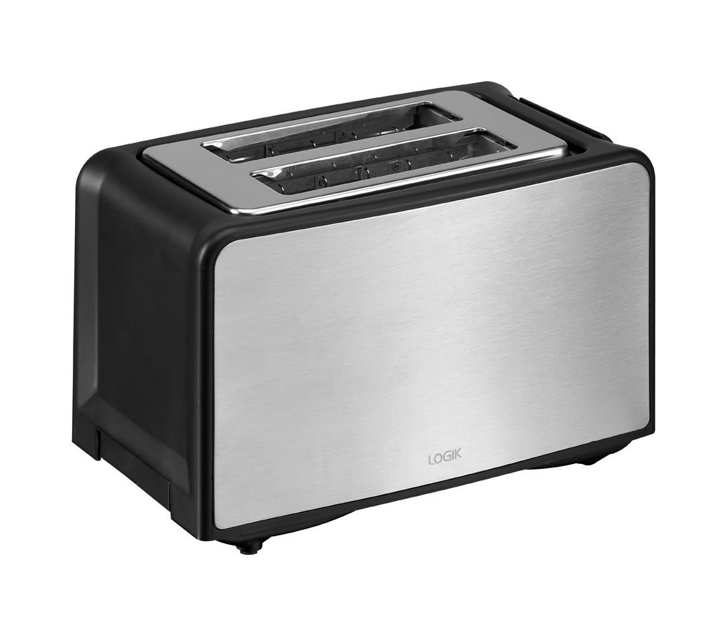 logik l02tbs13 2 slice toaster stainless steel stainless steel. Black Bedroom Furniture Sets. Home Design Ideas