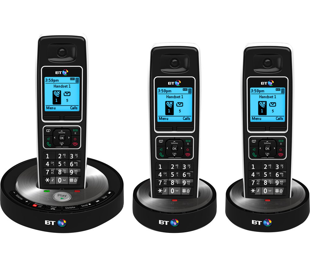 buy bt 6510 cordless phone with answering machine triple. Black Bedroom Furniture Sets. Home Design Ideas