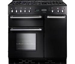 RANGEMASTER Toledo 90 Dual Fuel Range Cooker - Black & Satin