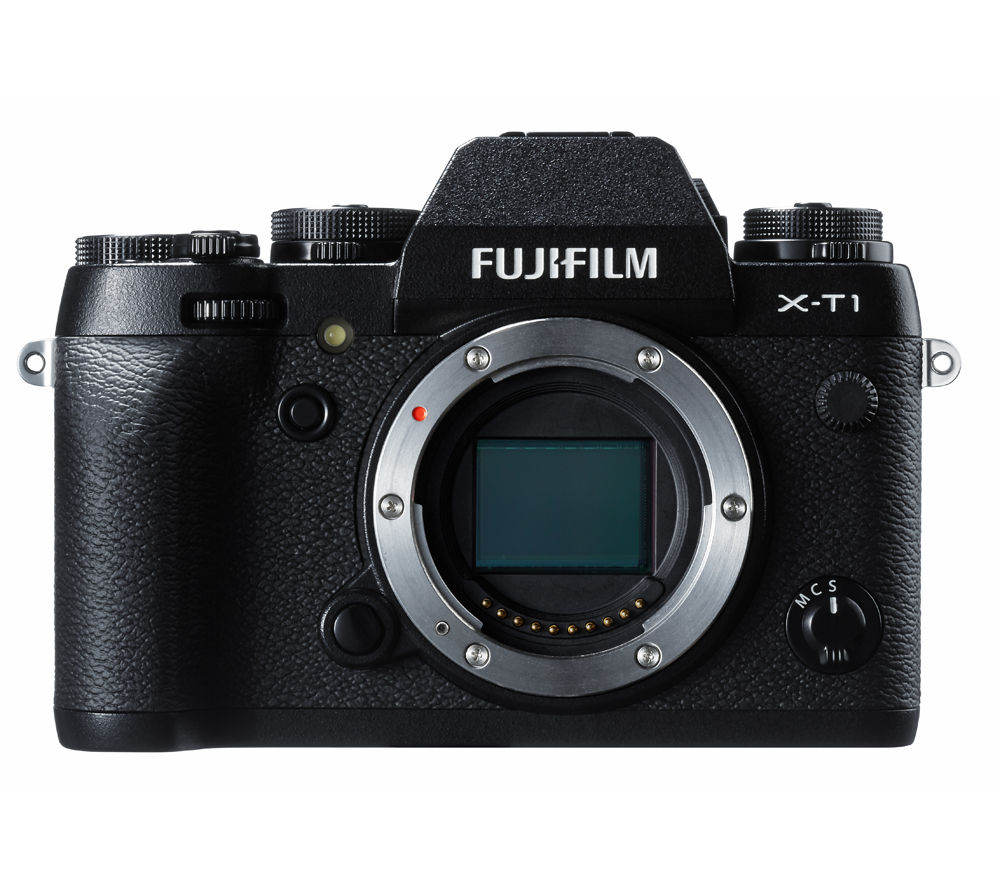 FUJIFILM  X-T1 Compact System Camera - Body Only +  X-A2 Accessory Kit - Black
