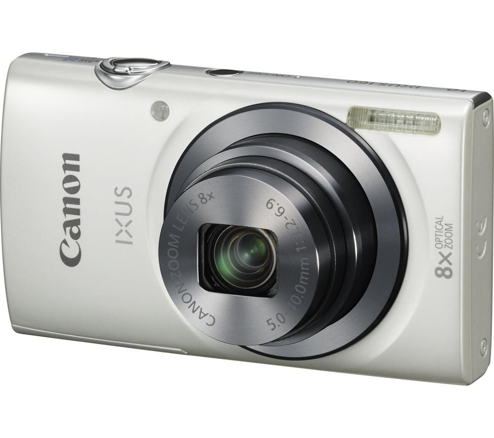 buy canon ixus 160 compact camera white free delivery currys. Black Bedroom Furniture Sets. Home Design Ideas
