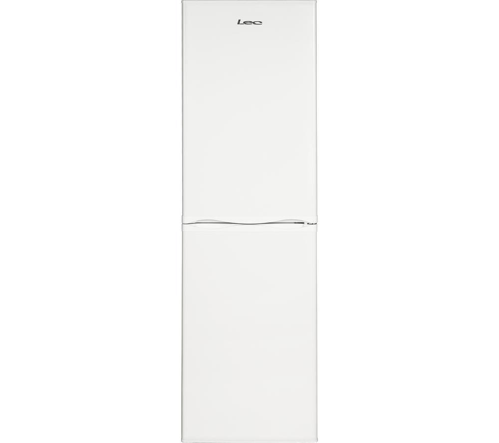 Image of Lec TF60203W Fridge Freezer - White, White